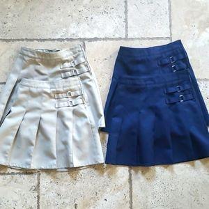 Girls uniform skirts. Kahki and navy.